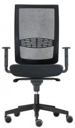 kancelárska stolička KENT SÍŤ,SYNCHRO čierná-skladová BLACK 27