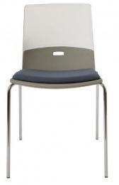 konferenčná stolička Duetto nohy, čalúnený sedák