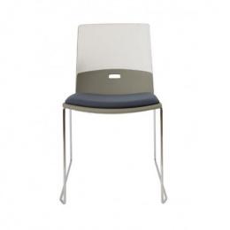konferenčná stolička Duetto sane, čalúnený sedák