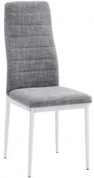 jedálenská stolička COLETA NOVA svetlošedá tkanina/bielá podnož