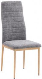 jedálenská stolička COLETA NOVA svetlošedá látka/buk