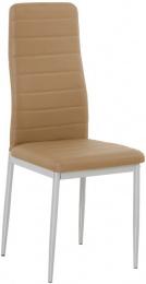 jedálenská stolička Colette NOVA karamelová ekokoža / sivá podnož