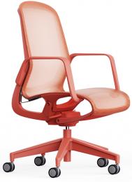 Kancelárská stolička Zodiac, koralová
