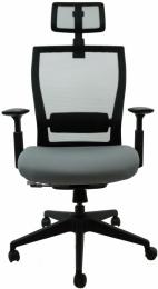 Kancelářská M5 černý plast, černo-šedá