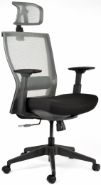 Kancelárská stolička M5 čierny plast, čierno-sivá