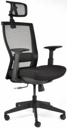 Kancelárská stolička M5 celočierná