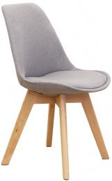 jedálenská stolička LORITA šedá/buk