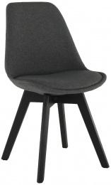 jedálenská stolička LORITA sivohnedá/čierná