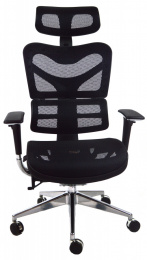 kancelárská stolička ARIES JNS-701, čierna W-11