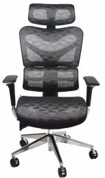 kancelárská stolička ARIES JNS-701, šedá W-50