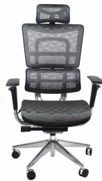 kancelárská stolička OIRON JNS-801, šedá W-50