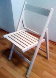 skládací stolička SMART bielá