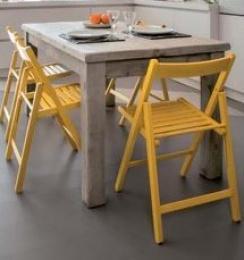 skládací stolička SMART žltá