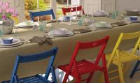 skládací stolička SMART modrá