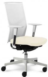 kancelárská stolička Prime 2302 W, biele prevedenie