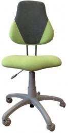 detská rastuca stolička FUXO V-line sv. zeleno-šedá