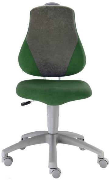 ALBA dětská rostoucí židle FUXO V-line tm. zelená + šedá