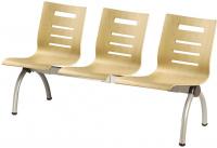 Trojmiestna lavica NEO 8334, šedý kov