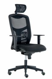 Kancelárska stolička YORK sieť, SYNCHRO čierna-skladová BLACK 27