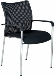 Konferenčná stolička TRINITY s opierkami-BLACK 27
