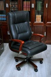 Kancelářské kožené křeslo AMBASSADOR černé