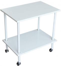 Príručný stolík Labonte - matná biela