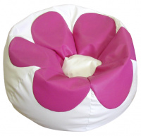 sedací vak FLOWER Medium SK2-SK13 bílo-růžový
