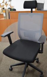 Kancelárska stolička ANDY NEW čierny sedák sivá sieťovina, č. AOJ284