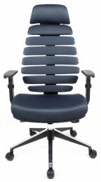 kancelárska stolička FISH BONES PDH čierny plast, šedá  TW12, č. AOJ300S