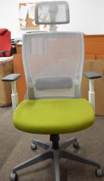 Kancelářská M5 bílý plast, zeleno-šedá, č. AOJ339