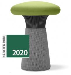 dizajnový taburet FUNGHI-N1 40/50, čierny plast