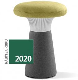 designový taburet FUNGHI-N2 40/50, sivý plast