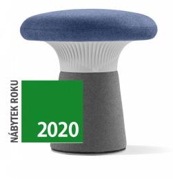 Designový taburet FUNGHI, FU-50/50-N2 sivý plast