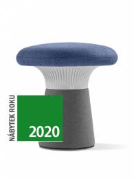 Designový taburet FUNGHI-N2 50/46 šedý plast