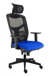 Kancelárská stolička YORK síť T-SYNCHRO černá, č. AOJ349S