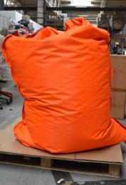 Sedací vak BeanBag comfort s popruhy oranžový 189x140 cm, č. AOJ373