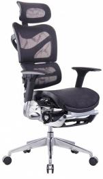 kancelárská stolička ARIES JNS-701L s integrovanou podnožkou, čierna W-51, č.AOJ358S