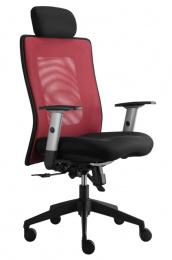 kancelárská stolička LEXA s podhlavníkom, vínová, č. AOJ383S