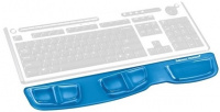 Opěrka zápěstí ke klávesnici Fellowes Health-V CRYSTAL gelová Microban modrá
