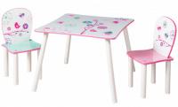 Detský stôl so stoličkami KVETY
