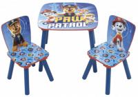 Detský stôl so stoličkami TLAPKOVÁ PATROLA 2