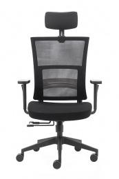 kancelárska stolička BZJ 373 - čierny materiál P009