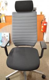 kancelárska stolička LaFresca šedočerná, č. AOJ507