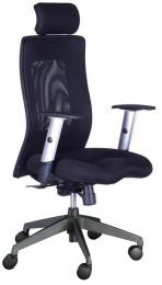 kancelárská stolička LEXA XL + 3D podhlavník, čierna