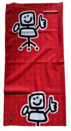 Nákrčník židlík červený