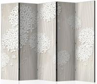 Paraván papierové púpavy 5tich dielny