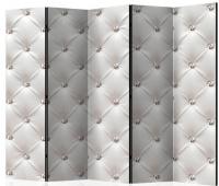 Paraván biela koža Glamour 5tich dielny