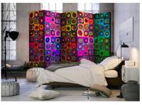 Paraván barevná abstrakce 5ti dílný