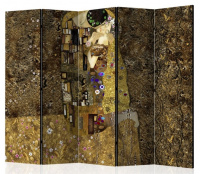 Paraván zlatý polibek 5ti dílný