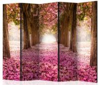 Paraván růžový háj 5ti dílný